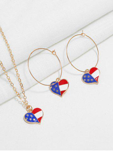 American Flag Necklace and Earrings