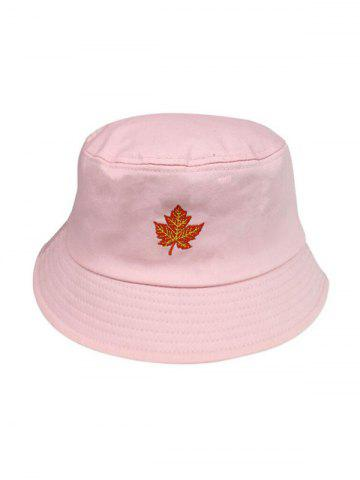 Embroidery Maple Leaf Bucket Hat