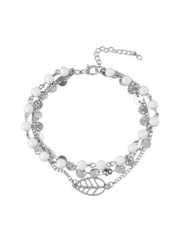 Beading Multilayered Alloy Chain Anklet