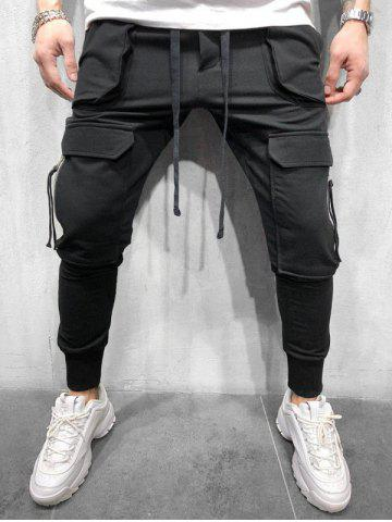 Pocket Zipper Decoration Jogger Pants
