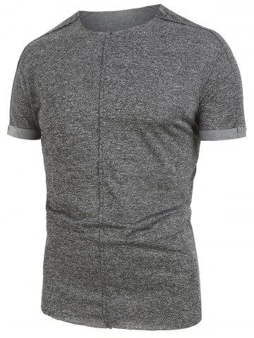 Casual Simple Design Short Sleeves T-shirt