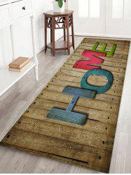 HOME Wood Board Pattern Water Absorption Area Rug -