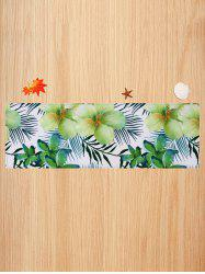 Flower and Leaf Pattern Water Absorption Area Rug -