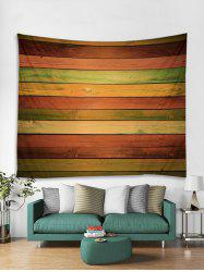 Polyester Colorful Wooden Board Decor Tapestry -