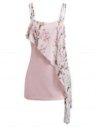 Cami Floral Print Tiered Tank Top -