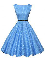 A Line Polka Dot Print Dress -