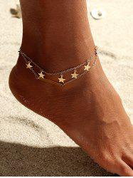 Star Double Layered Anklet -