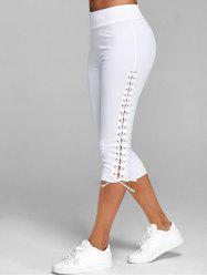Lace Up Capri Leggings -
