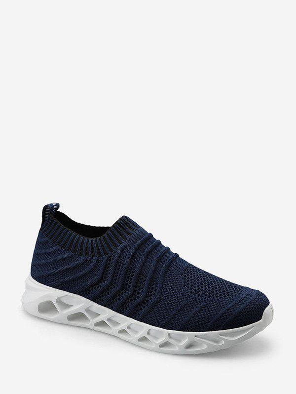 Affordable Mesh Striped Slip On Sneakers