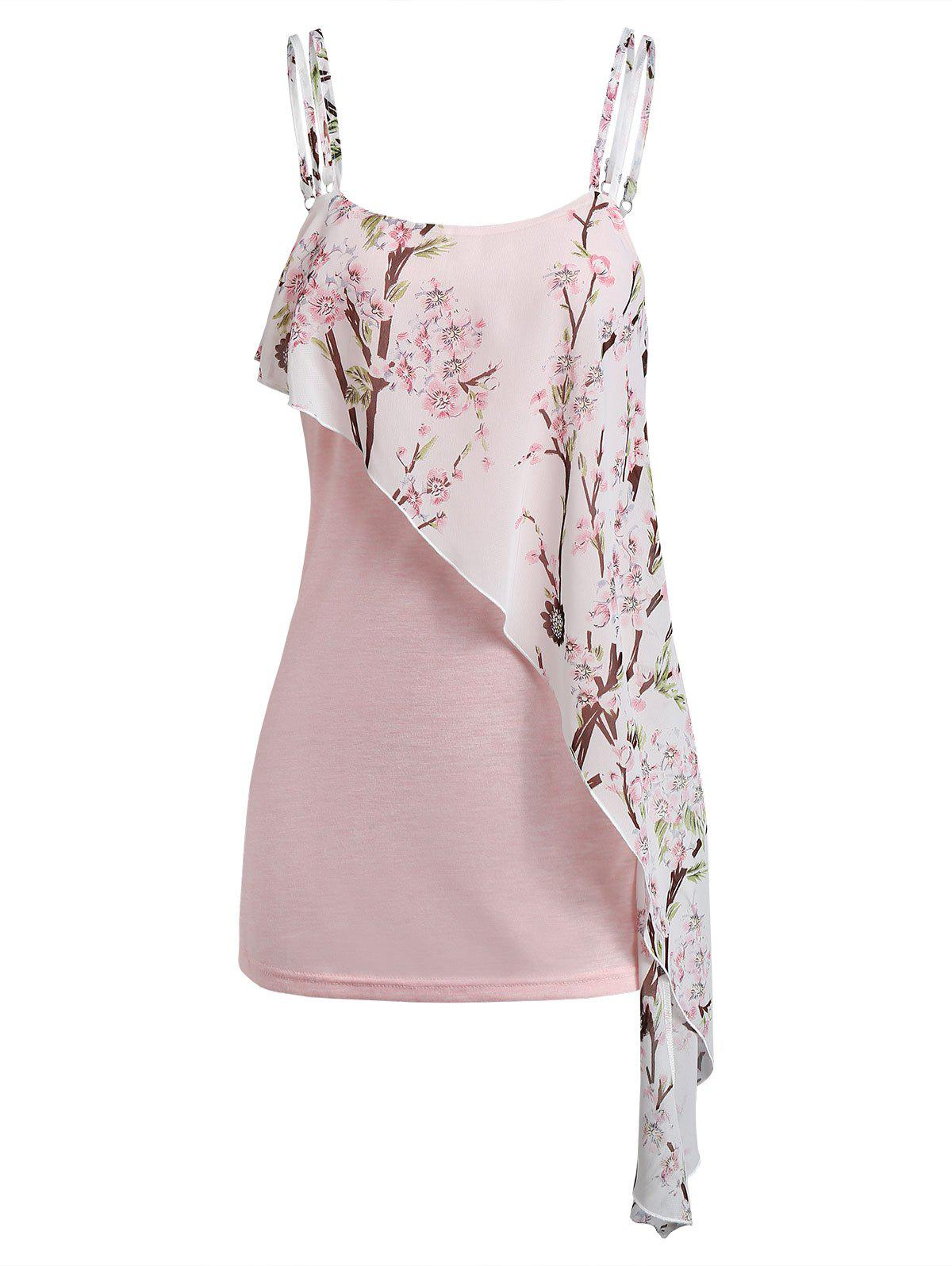 Buy Cami Floral Print Tiered Tank Top