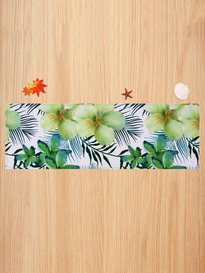 Shops Flower and Leaf Pattern Water Absorption Area Rug