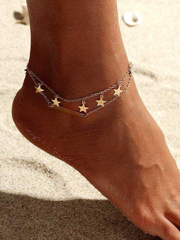 Hot Star Double Layered Anklet