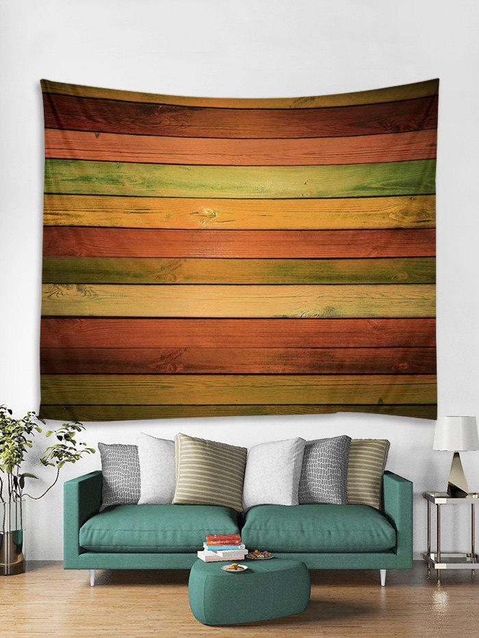 Shop Polyester Colorful Wooden Board Decor Tapestry