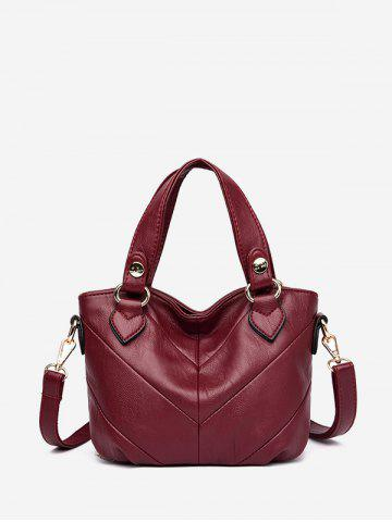 Casual Style Solid Color Tote Bag