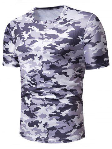 Camouflage Print Leisure Short Sleeves T-shirt