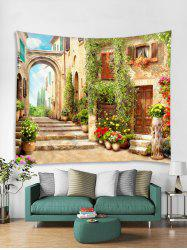 Retro Architecture Print Tapestry Wall Hanging Art Decoration -