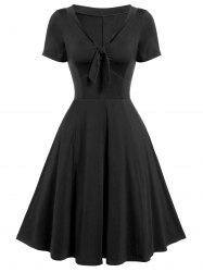 Vintage Bow Tie Fit and Flare Dress -
