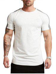 Color Spliced Short Sleeves Casual T-shirt -