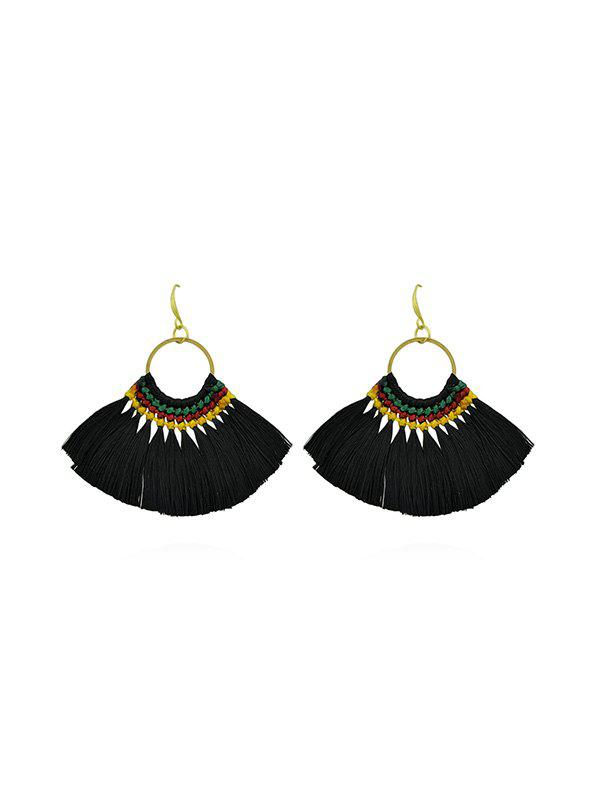 Outfit Bohemia Style Ring Tassel Earrings