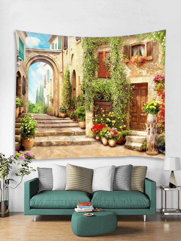 Cheap Retro Architecture Print Tapestry Wall Hanging Art Decoration