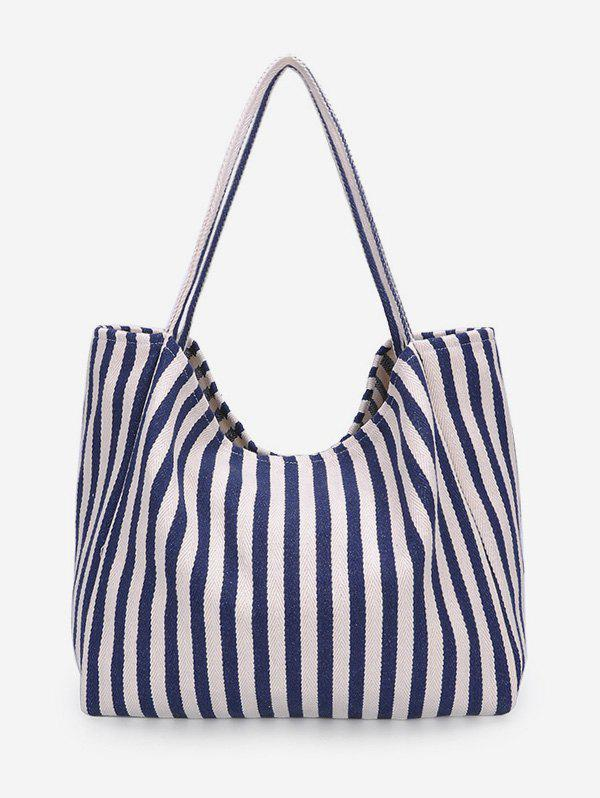 Shop Canvas Striped Pattern Shoulder Bag