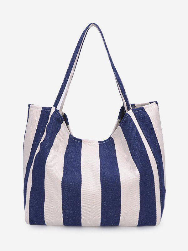 Best Canvas Striped Pattern Shoulder Bag