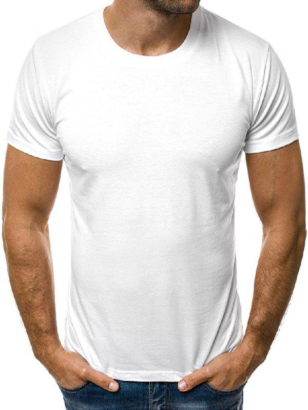 New Solid Color Round Neck Short Sleeves Tee