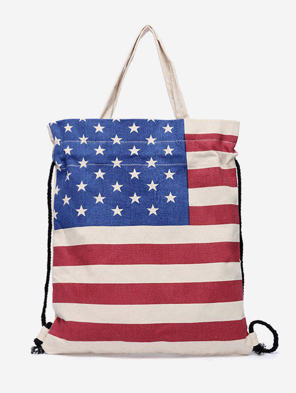 Hot String American Flag Pattern Tote Bag