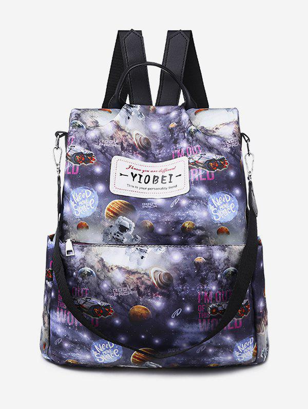 Fashion Printed Multifunctional Canvas Backpack