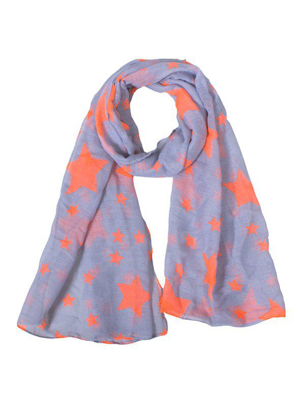 Discount Pentagram Print Two Tone Scarf