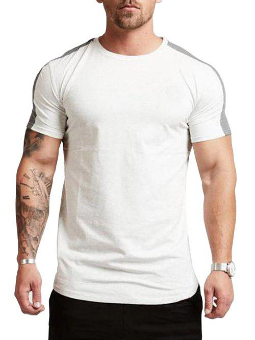 Online Color Spliced Short Sleeves Casual T-shirt