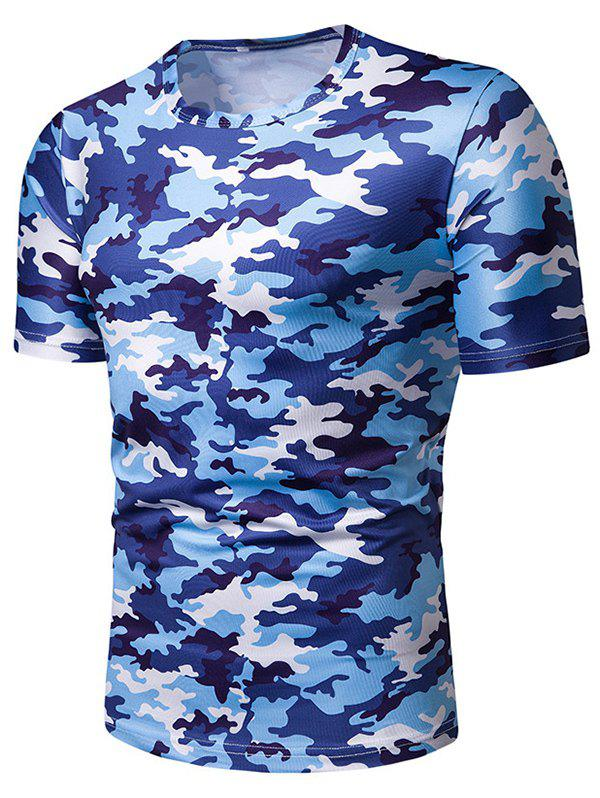 Discount Camouflage Print Leisure Short Sleeves T-shirt
