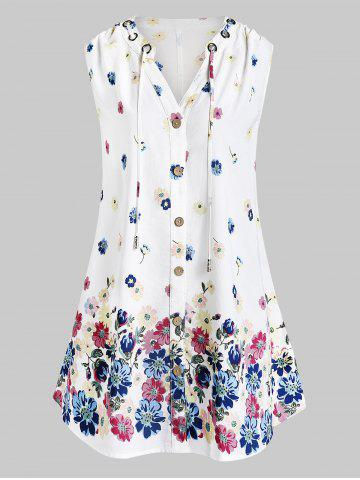 Plus Size Floral Print Tank Top