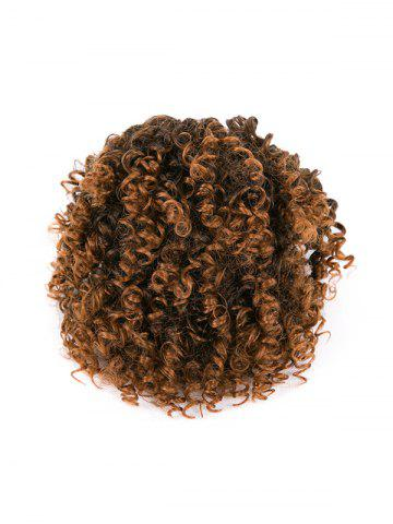 Afro Kinky Curly Ombre Short Synthetic Clip Hair Piece