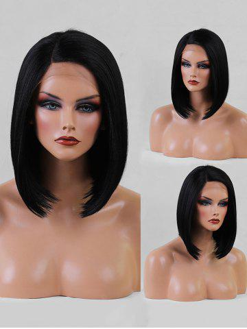 Short Side Parting Straight Bob Synthetic Lace Front Wig