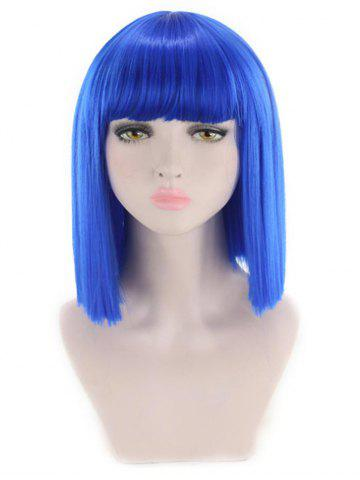 Short Full Bang Straight Cosplay Synthetic Wig
