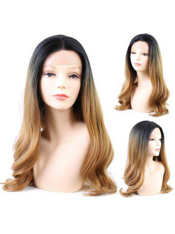 Middle Part Long Ombre Wavy Sythetic Lace Wig