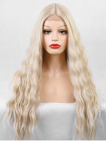 Long Center Parting Natural Wave Lace Front Synthetic Wig