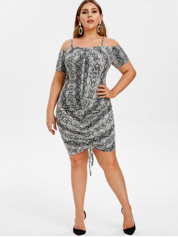 Ruched Plus Size Dress - Free Shipping, Discount And Cheap Sale ...