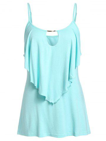 Plus Size Overlay Cut Out Slip Top