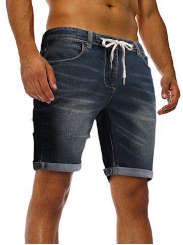 Casual Drawstring Jeans Shorts