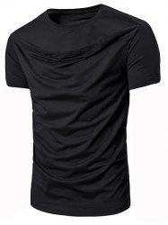 Solid Color Short Sleeves Leisure T-shirt -