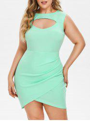 Plus Size Cut Out Ruched Bodycon Dress -