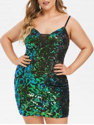 Plus Size Sequined Bodycon Party Dress -