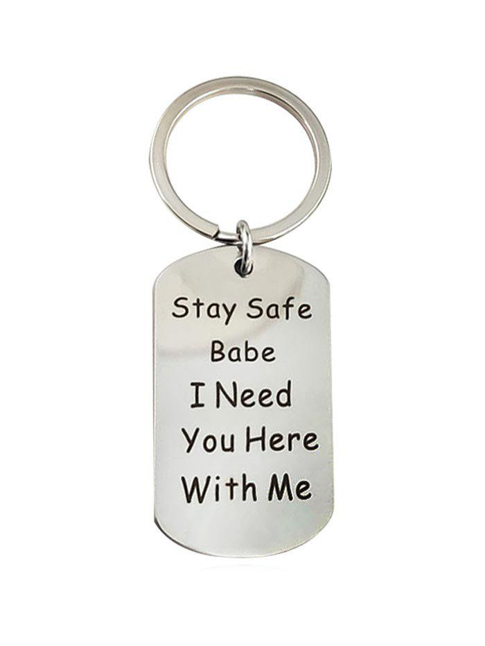 Fashion Letter Stainless Steel Key Ring