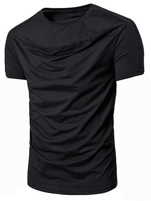 Trendy Solid Color Short Sleeves Leisure T-shirt