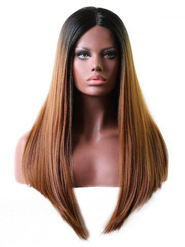 Middle Part Long Gradient Straight Lace Front Wig