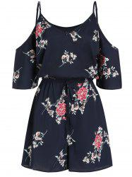 Cami Cold Shoulder Floral Print Tie Dress -