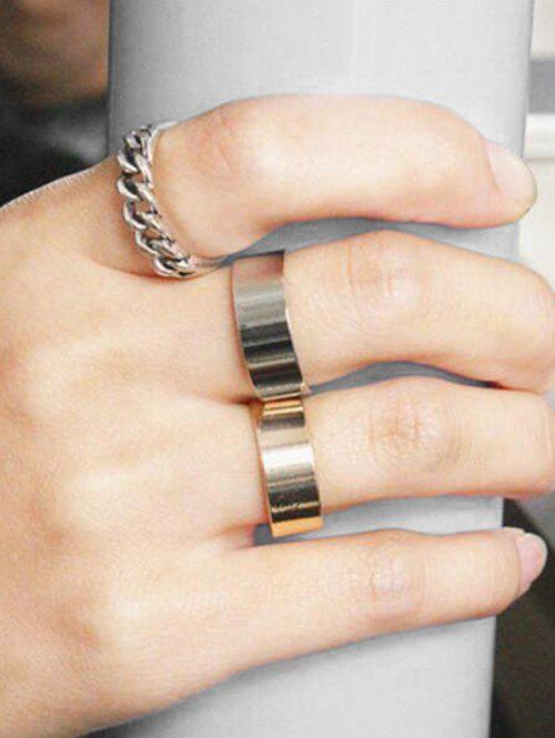Affordable 3Pcs Open Wide Ring Set