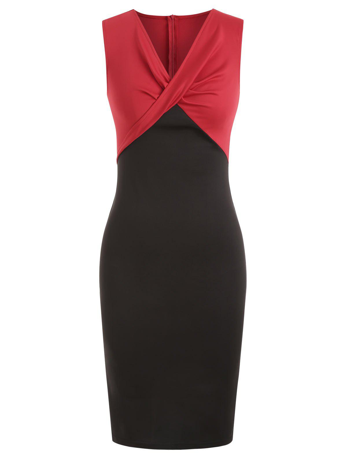 Outfit Two Tone Sleeveless Sheath Dress